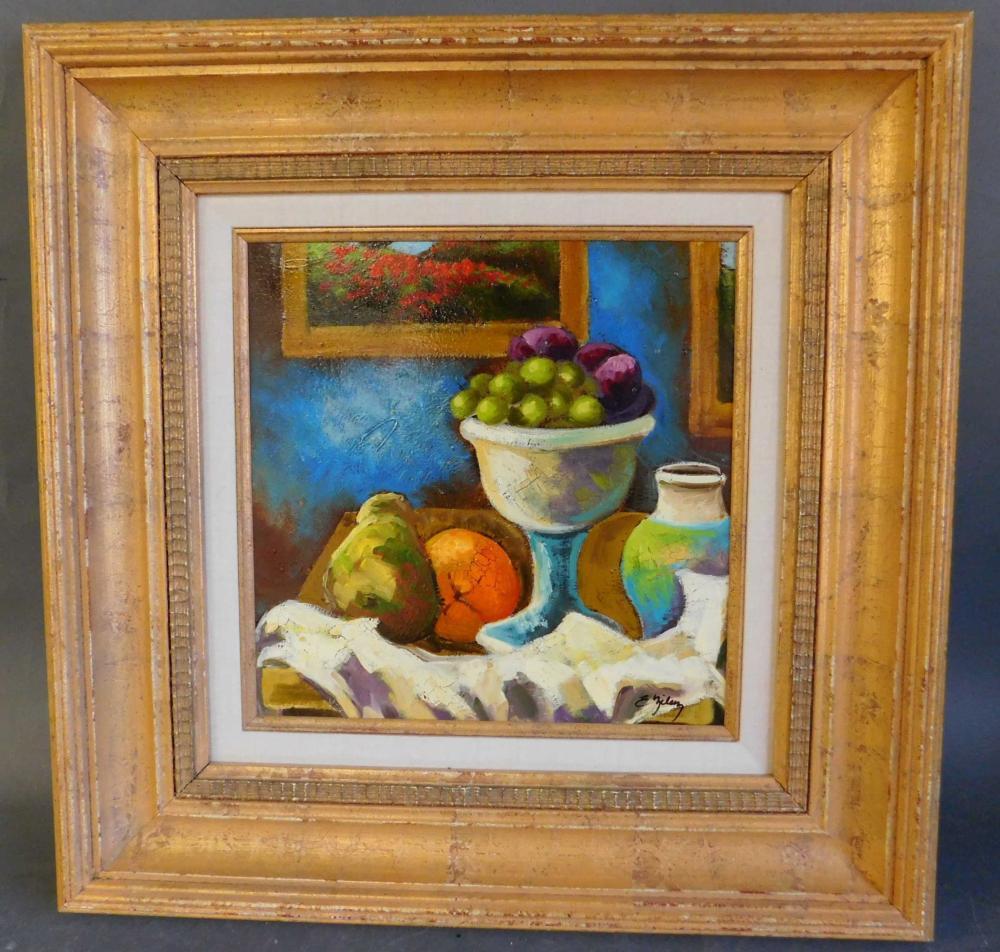 Ellie Milan. Oil on canvas, signed l.r. Framed.