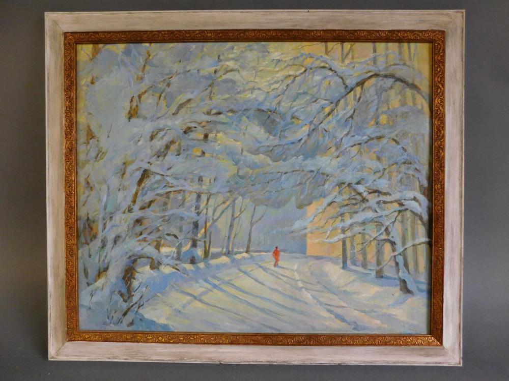 "Zaur Ibragimov ""March."" Oil on canvas. Framed"