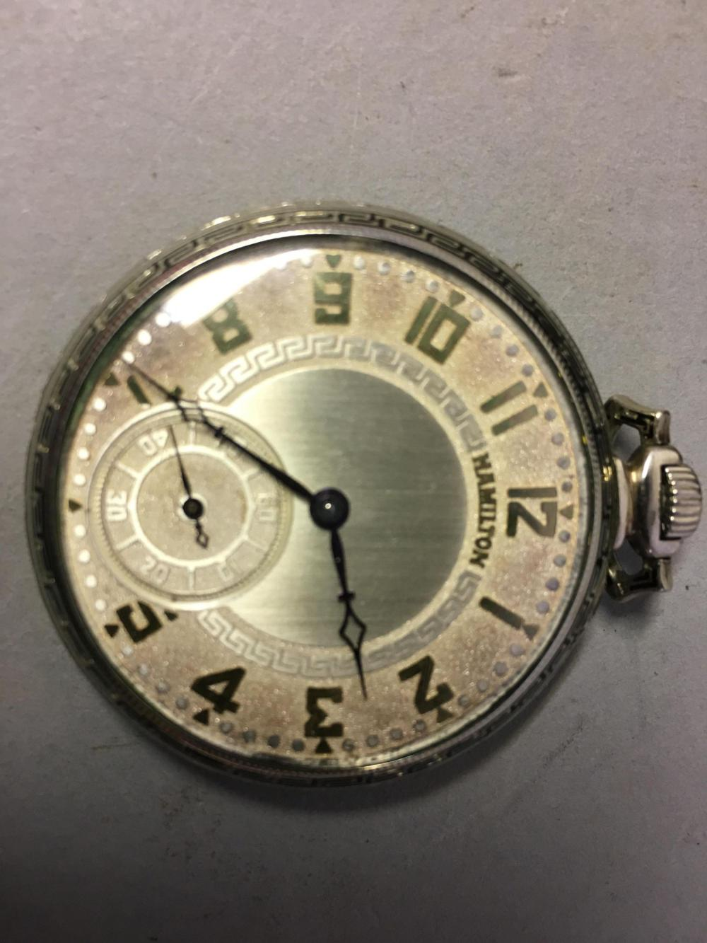 Hamilton Grade-912, 1926 Gold Plate Pocket Watch