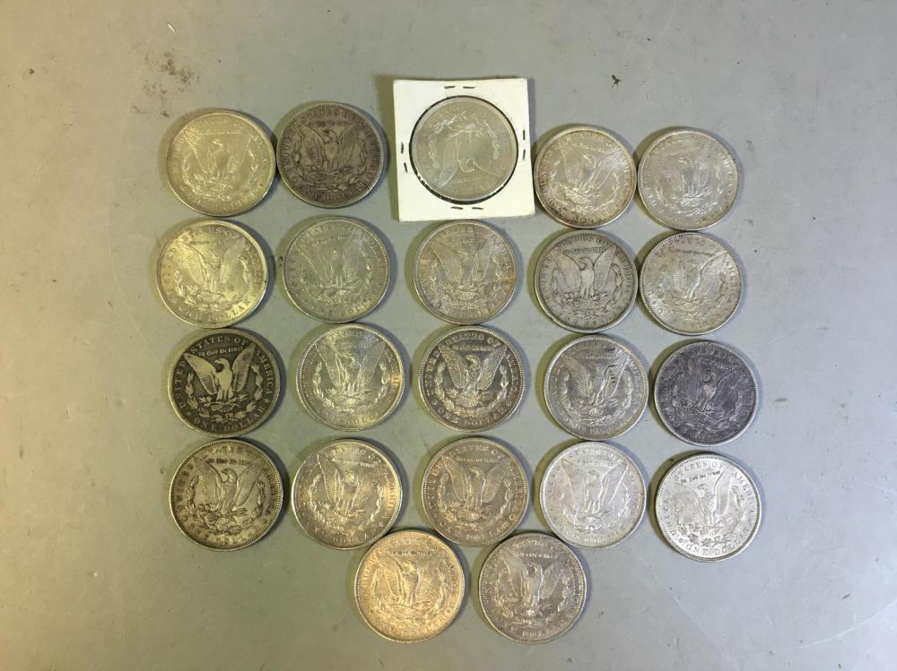 22 1880-1921 United States Silver Morgan Dollars