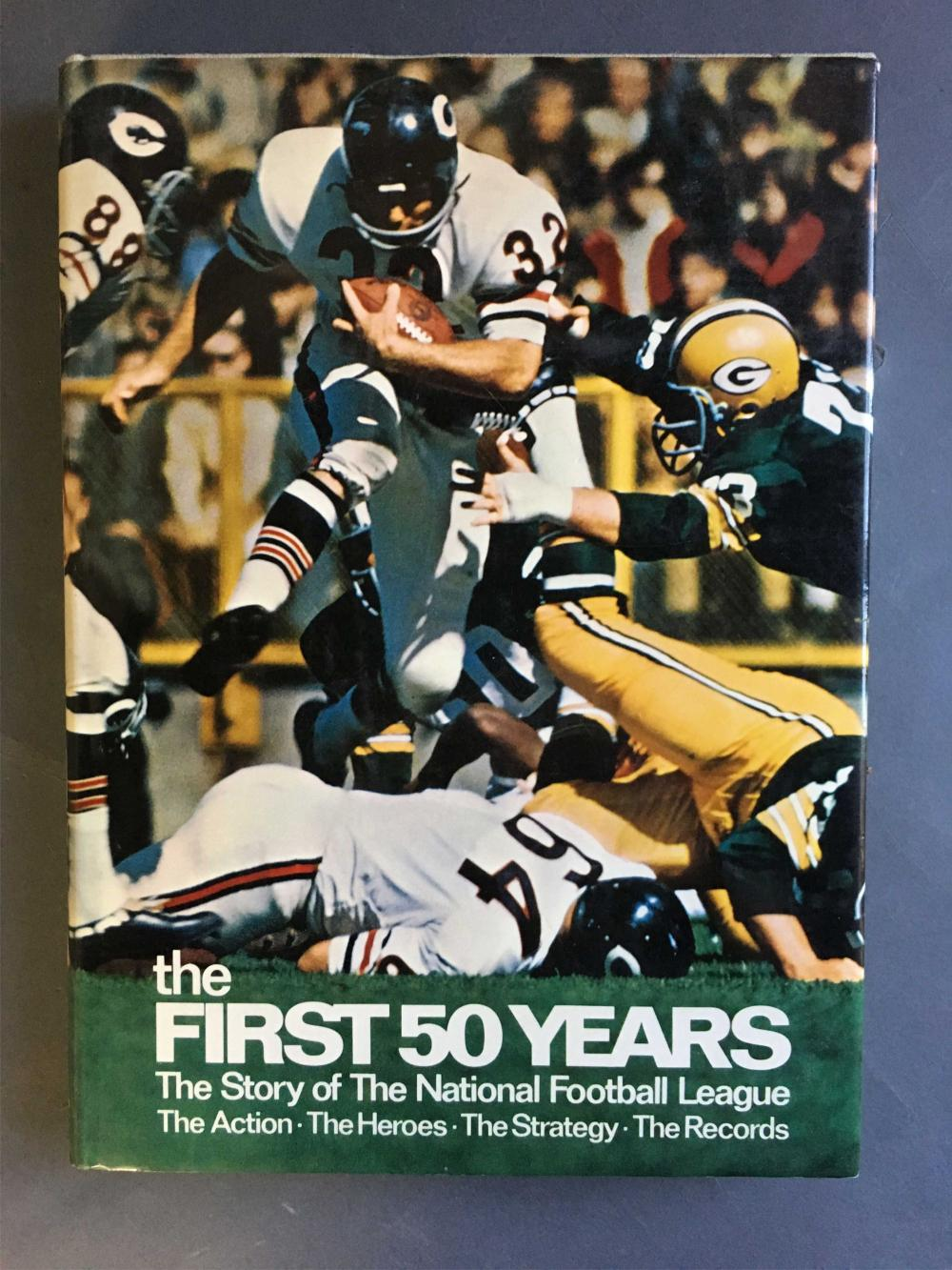 The First Fifty Years. Signed by 22+ NFL players.