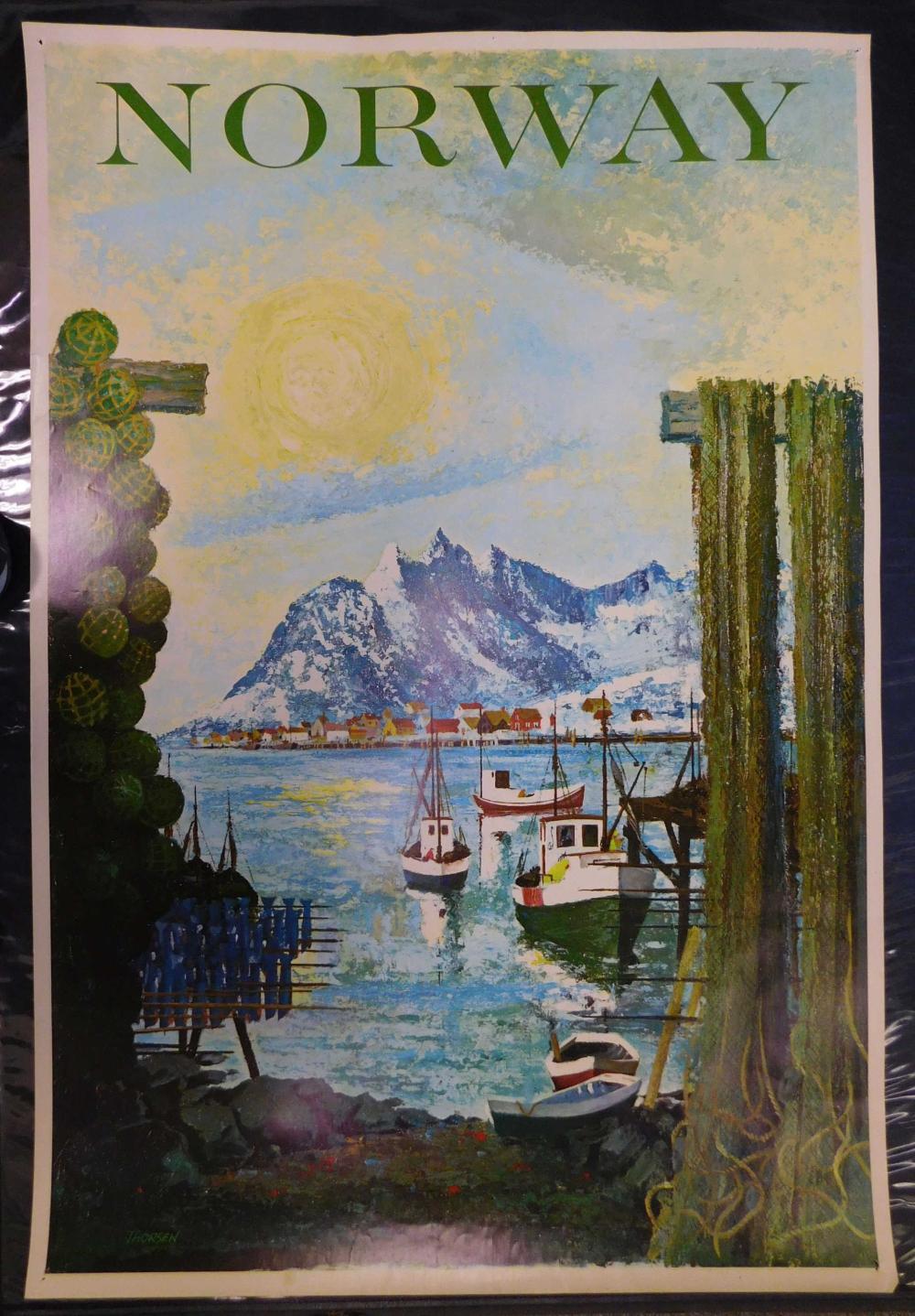 Vintage Travel Poster. Norway. Thorsen.