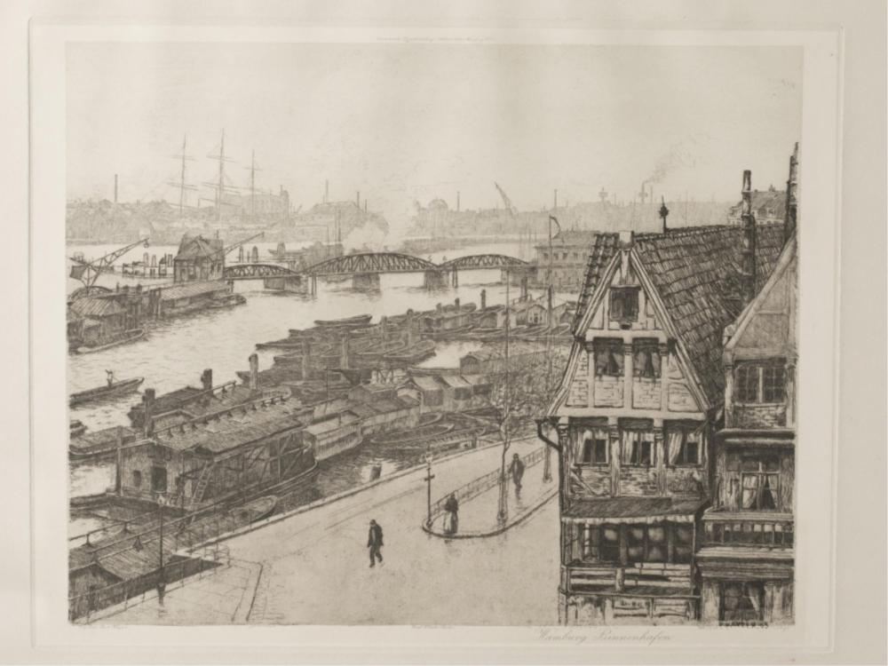 Jean-Paul Kayser, Hamburg Binnenhafen, 1905