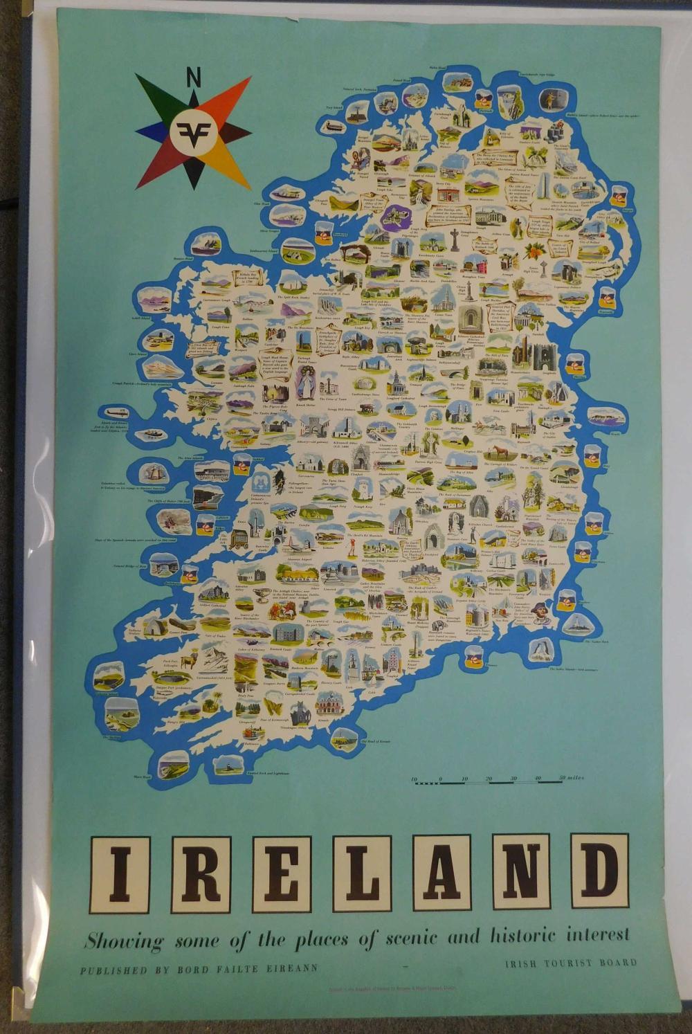 Vintage Travel Poster. Ireland.