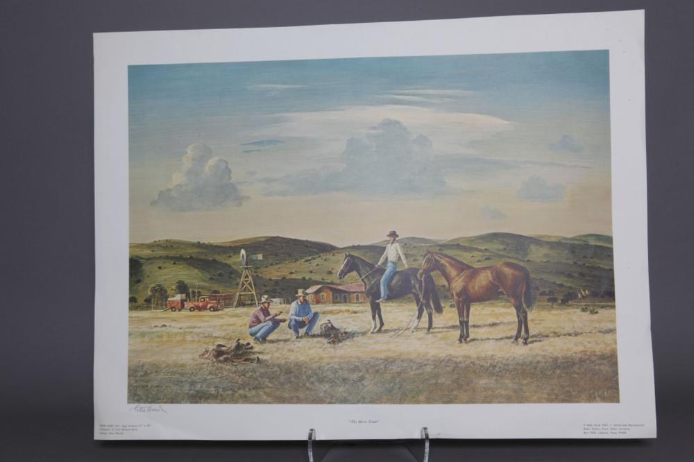 3 prints by Peter Hurd.