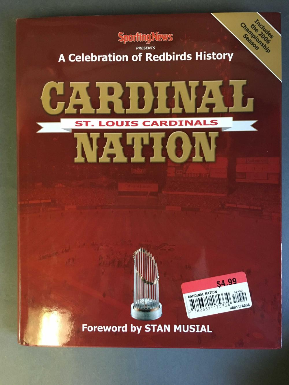 Cardinal Nation. Signed by at least 9 players.