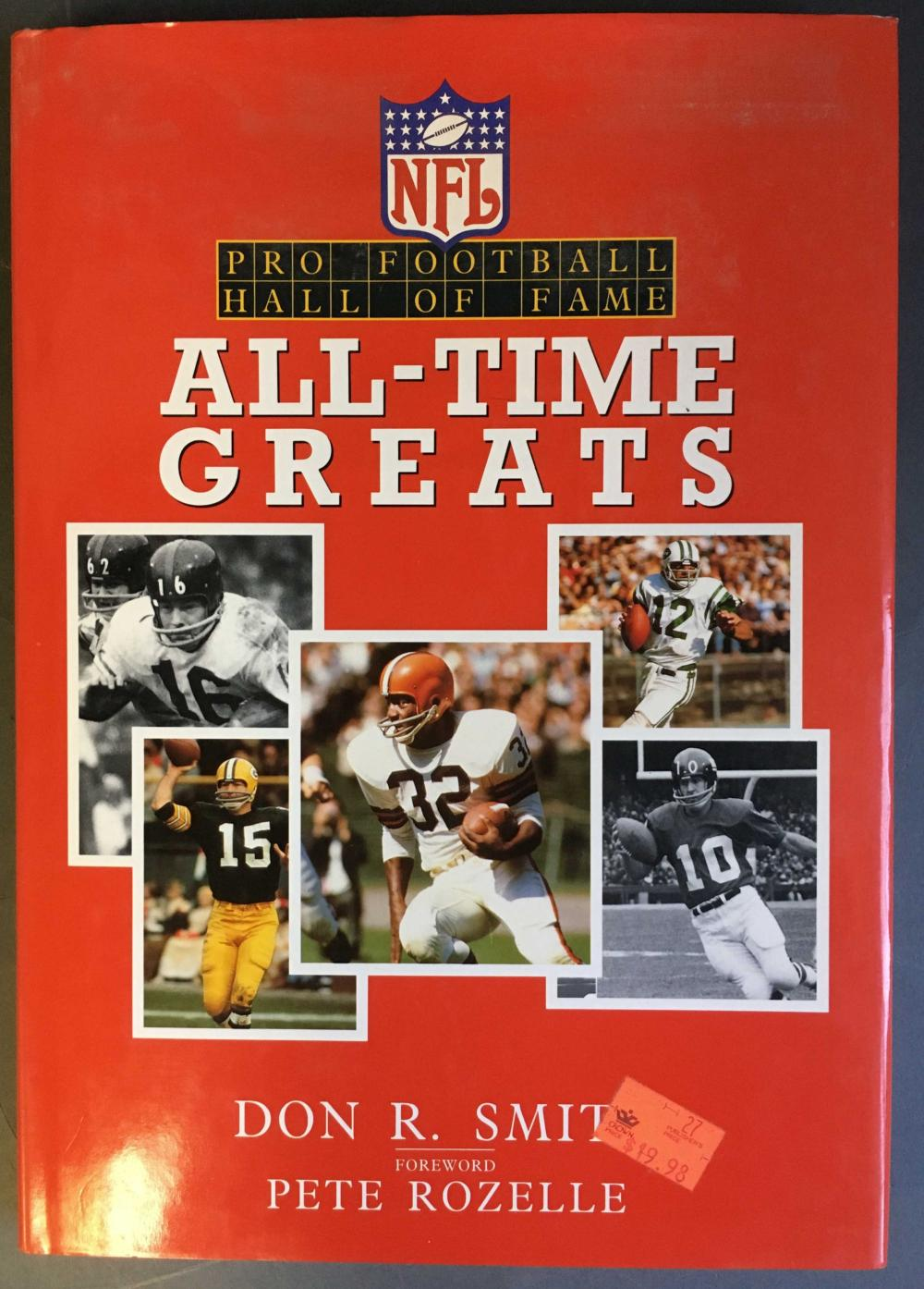 Signed- Pro Football Hall of Fame All-Time Greats.