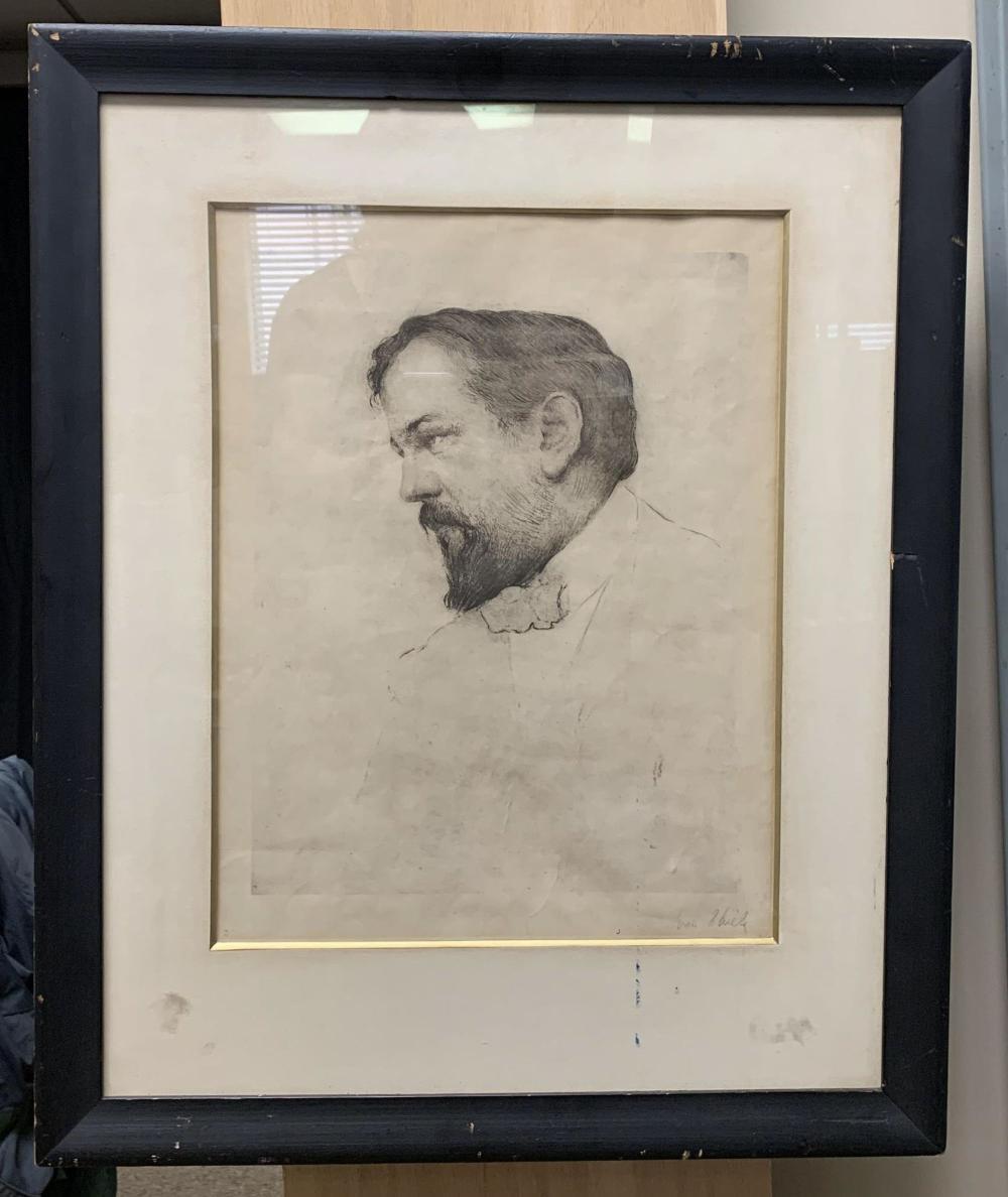 Ivan Thiele. Portrait of Claude Debussy. c.1920.