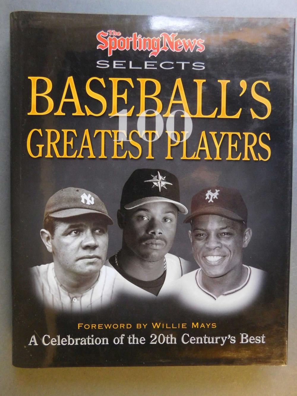 Baseball's 100 Greatest Players. Signed by over 20