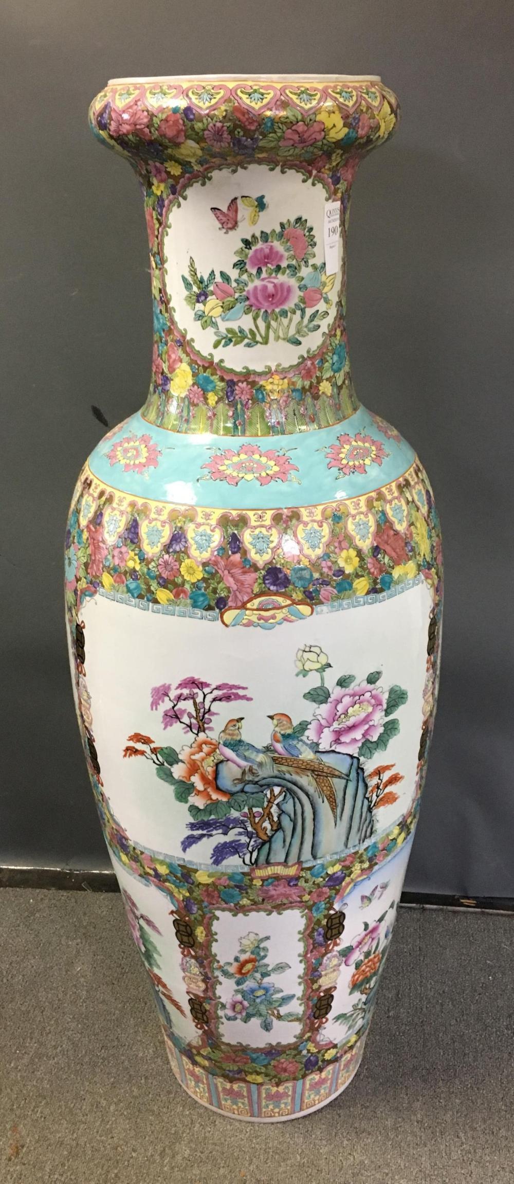 Large Hand Painted Chinese Vase