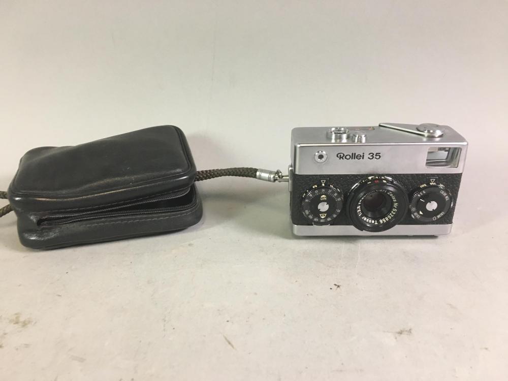 Rollei 35 Chrome German Camera, Tessar 3.5/40mm