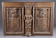 German decorative wooden panel.
