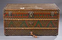 Antique Louis Vuitton Damier steamer trunk.
