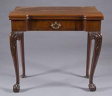 George III flip top games table.