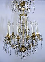 Louis XVI thirteen light chandelier.