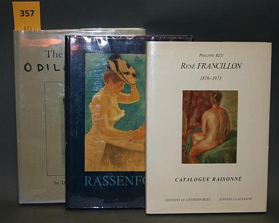 6 Titles (7 Vols): Modern French printmakers, including: Rene Francillon: 1876-1973, 387/500 + Armand Rassenfosse, 1 of 1000.