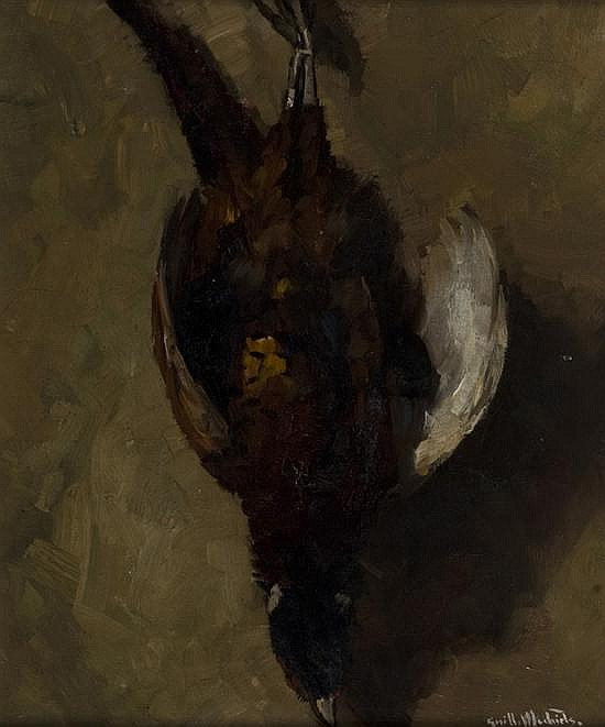 Michiels, Guillaume (Belgium, 1909-1997). Pheasant hanging by feet.