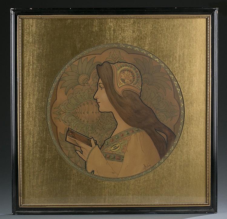 Femme au Livre, by Jane Atche.
