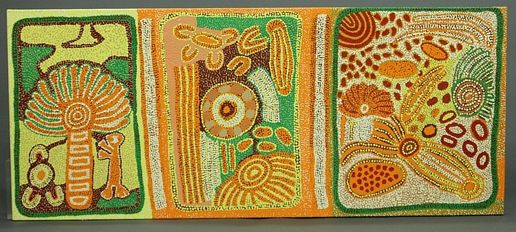 Aboriginal painting. 2008. Peter Mitchell