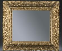 Molded gilt gesso square mirror. 19th / 20th cen.
