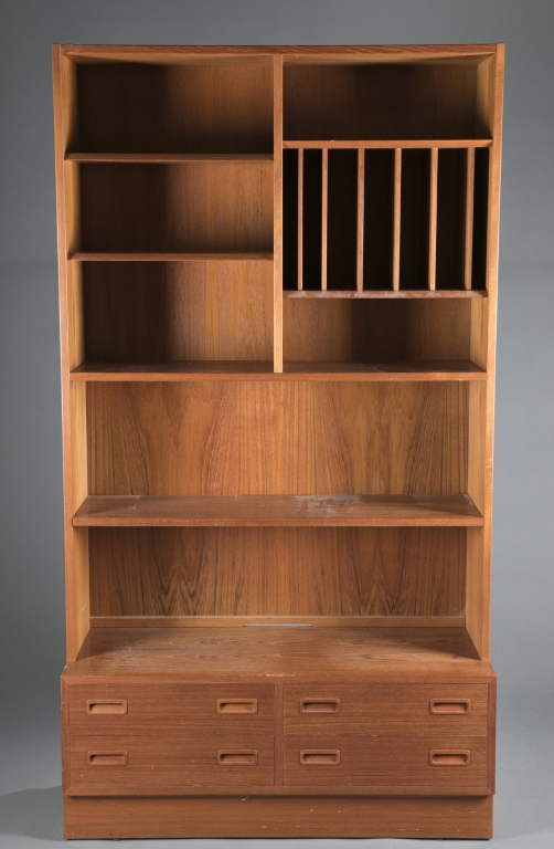 Wooden bookcase media center for Media center with bookshelves