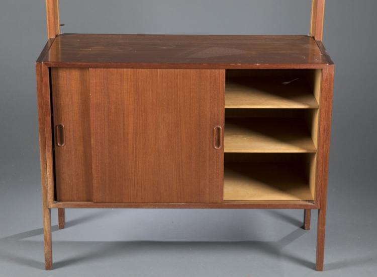 Mid century modern teak modular bookcase for Mid century modern prefab homes