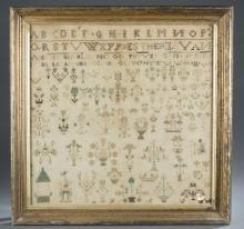 Esther Levan, Oley, Pennsylvania, 1796 sampler.