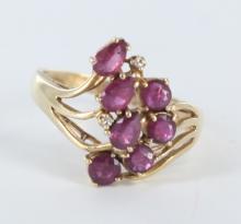 Ladies ruby ring.