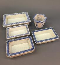 Misc. Asian Blue and White Ceramic Planters