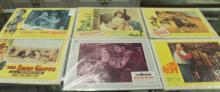 Set of Six Movie lobby cards incl. The Iron Glove,