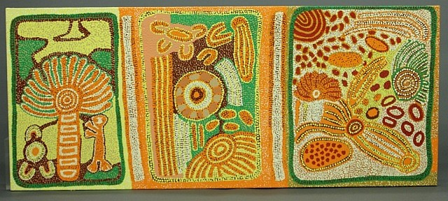 Peter Mitchell large Aboriginal painting