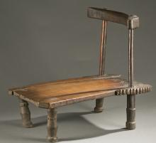 Liberian wooden chair, 20th century.