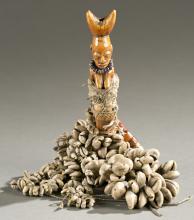 Yoruba ivory flute, 19th / 20th cen.