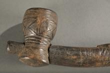 Kuba wooden pipe, 20th century.