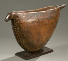 DRC crescent shaped drum, early 20th c.