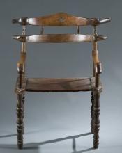 Chair with a double horizontal slat back