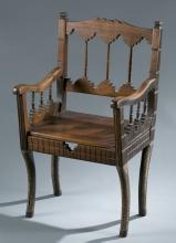 Chair with conventional western back