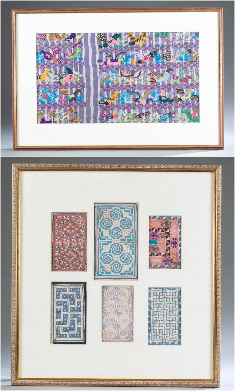 2 FRAMED CENTRAL AMERICAN TEXTILES.