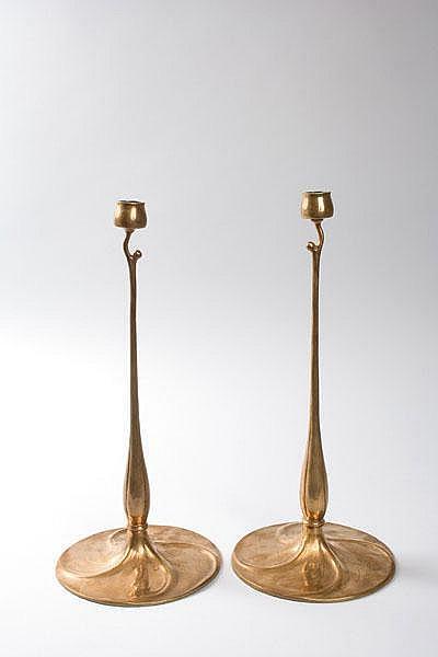 Richard Riemerschmid. Pair of candlesticks, 1897.