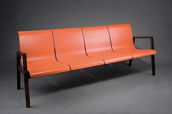Alvar Aalto. '403' bench, designed circa 1930/32.