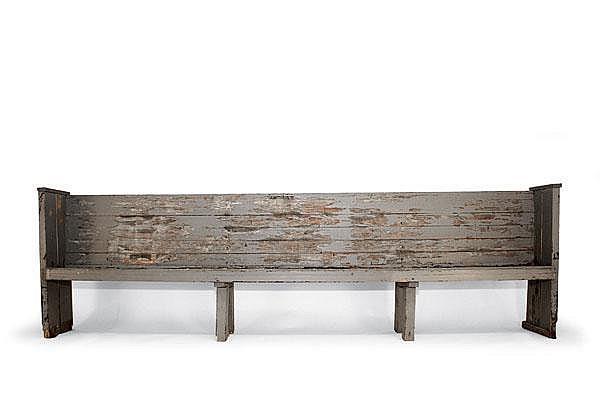 Alvar Aalto. Church bench, designed in 1926. H.