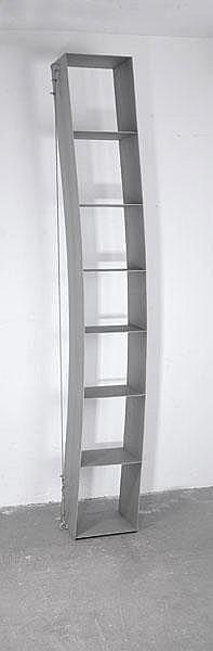 Wolfgang Laubersheimer. 'Verspanntes Regal' shelf,