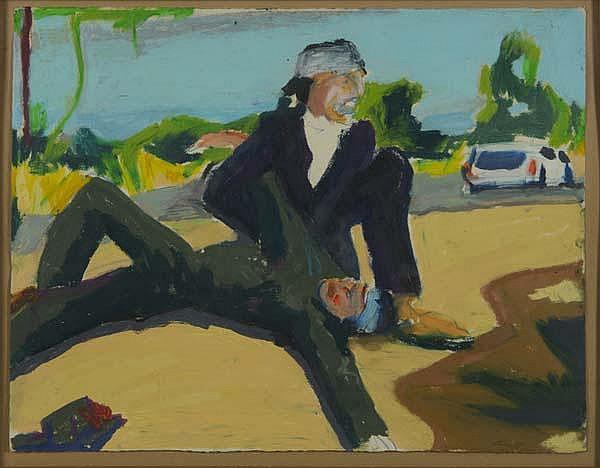 STEPHEN LACK (American, b. 1946) Untitled acrylic