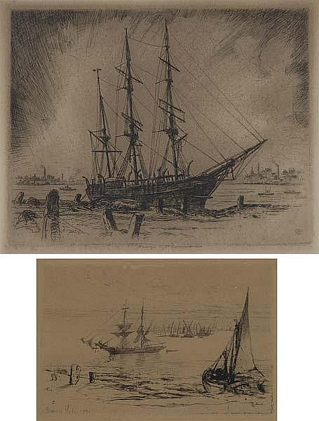 NAUTICAL ETCHINGS Two works of art: George Taylor