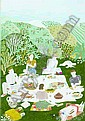 Ilonka Karasz (American, 1896/1981) Picnic,, Ilonka Karasz, Click for value