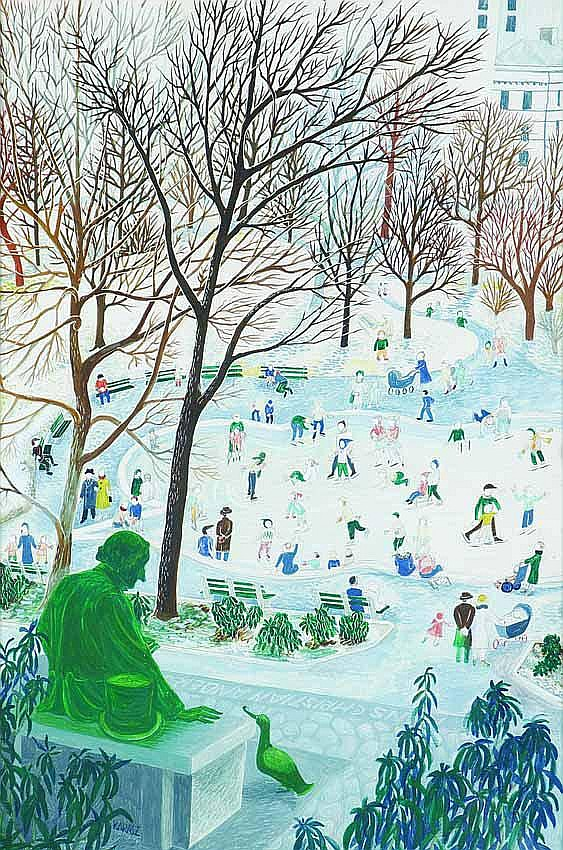 Ilonka Karasz (American, 1896/1981) Central Park