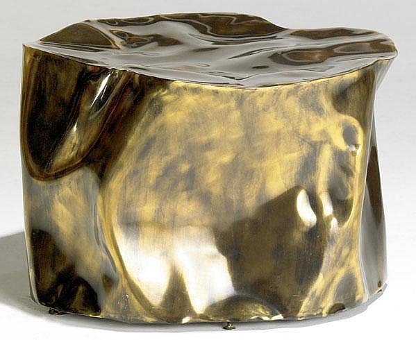 SILAS SEANDEL Patinated bronze coffee table.