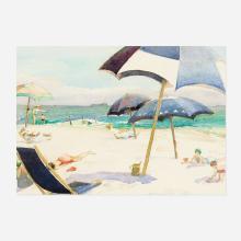 Ida Wells Stroud, Umbrellas on the Beach