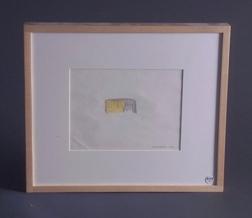 Robert Grosvenor, Untitled, 1980, graphite and colored pencil on paper, 7 3/8