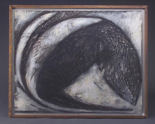 Michael Kessler (three works): Untitled, 1982, acrylic, oil and crayon on paper, 32
